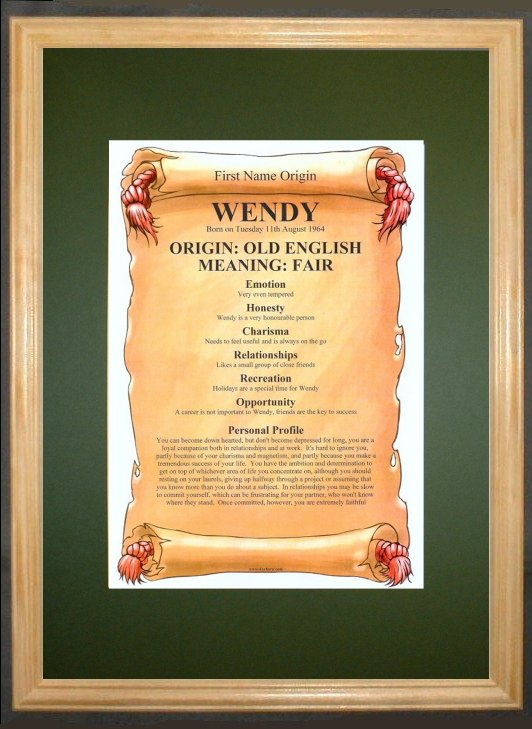 FIRST NAME ORIGIN & MEANING Certificate – Personalised Gift Product