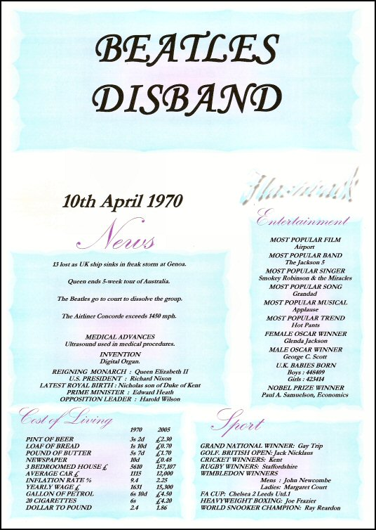 Beatles Disband Certificate