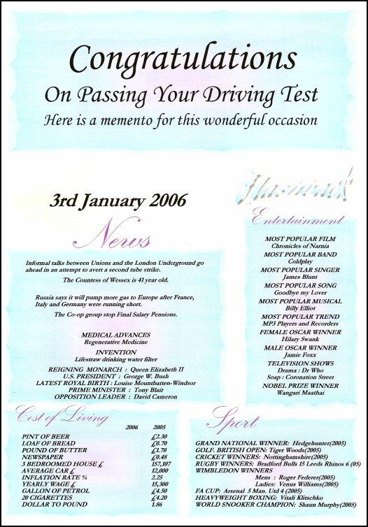 Flashback  Congratulations Certificate