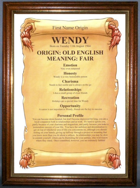 FIRST NAME ORIGIN & MEANING Certificate - Personalised ... - photo#4