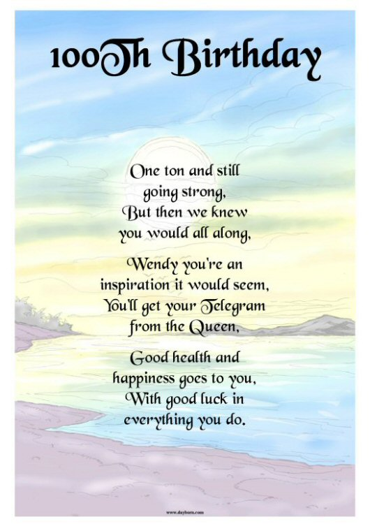 Inspirational Quotes For 100th Birthday Quotesgram