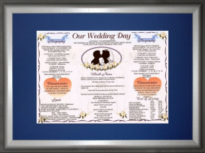 Silver A3 Frame & Mount - Our Wedding Day