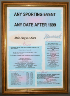 Custom Sport Certificate in Medium Wood Frame with Acrylic Glass
