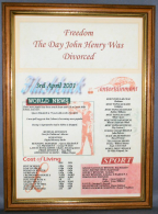 Divorce Certificate in Medium Wood Frame with Acrylic Glass