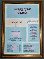 Titanic Sinks Certificate in Medium Wood Frame with Safety Glass