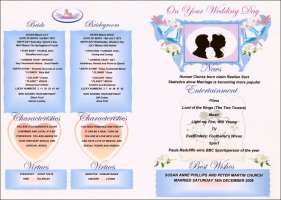 Laminated Wedding Day Gift Certificate.