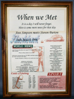 When We Met Certificate in Medium Wood Frame