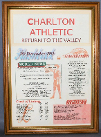 Charlton Athletic Football Club - Return To Valley - In Medium Wood Frame With Safety Glass