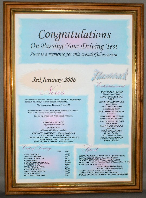Congratulations Certificate in Medium Wood Economy Frame
