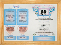 Pine Wood Framed Wedding Day Gift